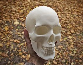 Anatomically correct human skull in 3D printable model 2
