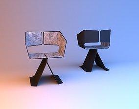 Ergonomic loft chair with cloth 3D