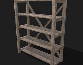 Pottery Shelf Wide 3D model