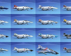 McDonnell Douglas F-4 Phantom II Fighter Jets 3D