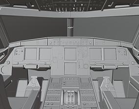 Airbus A320neo cockpit NOT TEXTURED 3D asset