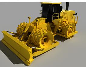 Soil Compactor 3D asset