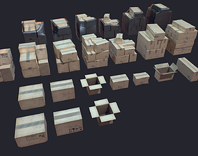 warehouse Carton Box 3D model realtime