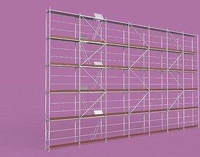 3D model scaffolding residential-building