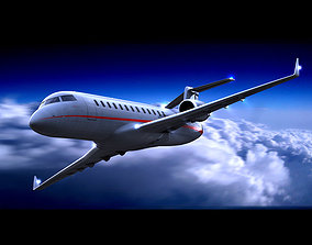 Challenger 850 VistaJet 3D model