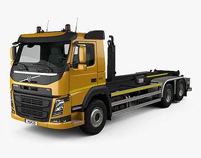 3D Volvo FM 410 Skip Loader Truck 2013