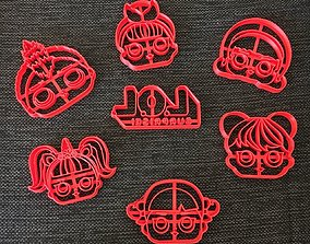 dolls 3D print model Kit LOL Surprise Cookie Cutter
