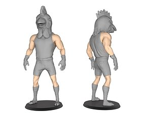 Beast man of Chicken 3D print model