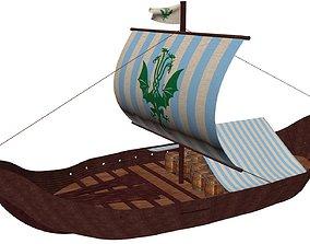 Viking Cargo Ship 3D model