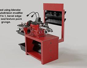 3D workshop garage disk lathe