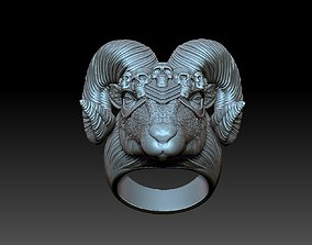 3D printable model viking ram ring