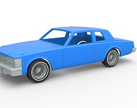Diecast shell and wheels Cadillac Seville 3D print model 4