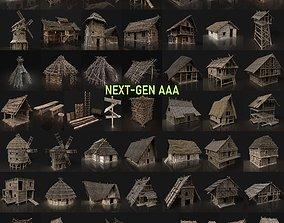 3D asset NEXT GEN AAA GIGAPACK MEDIEVAL VILLAGE CITY 1