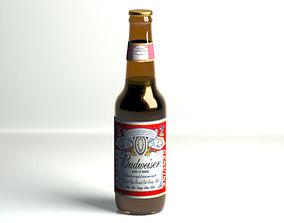Budweiser beer bottle 3D