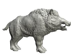 3D printable model Boar high poly