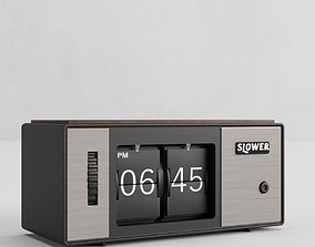 3D asset rigged Slower Clock