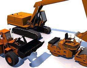 3D asset Construction machinery vehicles