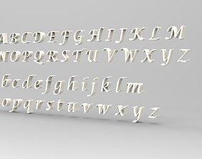 Font 3D low-poly
