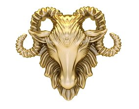 3D printable model 1866 Goat Pendant