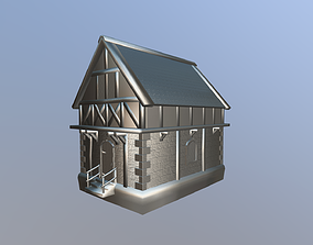 3D model Medieval Tudor House 02