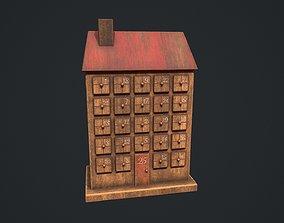 3D asset Wooden Advent Calendar