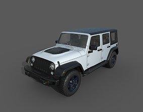 Jeep Wrangler Rubicon JK White 3D model