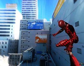 Bloody web Super hero 3D model