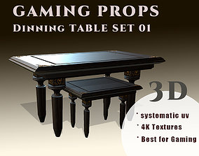 Gaming Props - Dinning Table Set 3D model