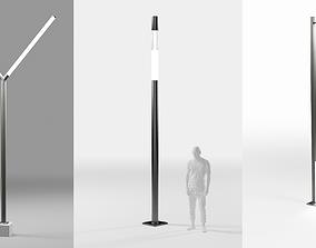 Modern street light collection 3D asset