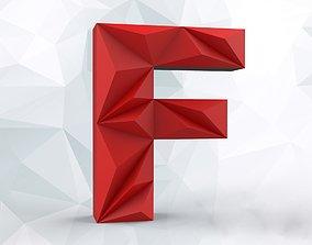 3D printable model Lowpoly letter F