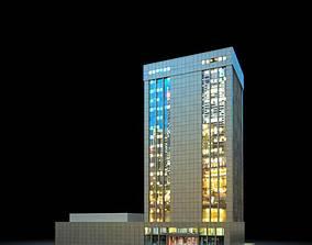 3D model Night Skyscraper