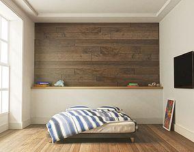 Bedroom architectural decoration 3D model