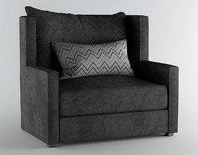 3D Armchair black