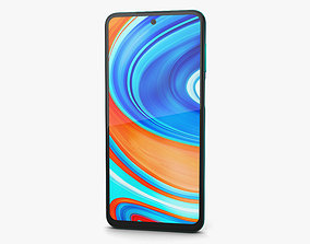 3D Xiaomi Redmi Note 9 Pro Tropical Green