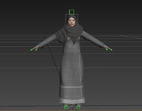 3D asset arabian woman