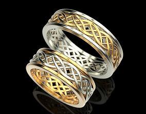 3D printable model rings Wedding ring Patterns
