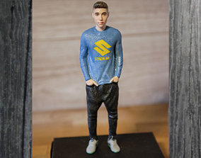 figurines Justin Bieber ready for full color 3D printing