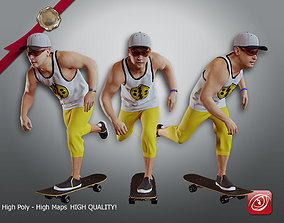 3D model Skater Male A CC 21 30 004