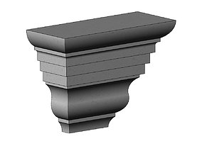 3D printable model Simple stepped massive corbel