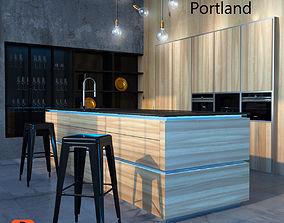 3D print model Kitchen Nolte Portland