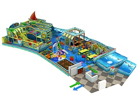 3D model Amusement park 01