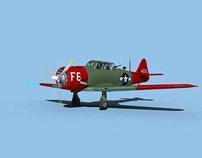 3D model North American AT-6 Texan V04 USAAF