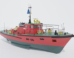 3D asset Pilot boat project 1459