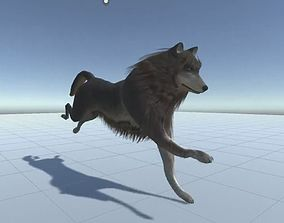 3D model Wolf Rigged Low-poly and Game-Ready