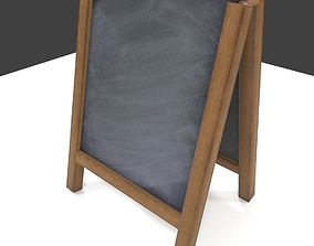 3D asset Chalk Aboard low poly PBR