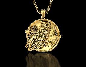 The Owl Medallion Pendant 3D printable model