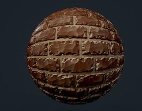 3D texture Stylized Brick Wall Seamless PBR Texture