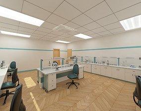 laboratory 3D model Laboratory room