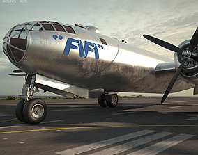 Boeing B-29 Superfortress 3D model wwii