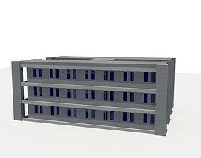 3D asset room Apartment Block